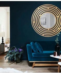 Blue Living Room of Various Shades