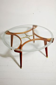 1950s midcentury Italian coffee table by Giodano Chiesa