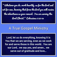 Are you serving the Lord out of gratitude and love? #atruegospelministry