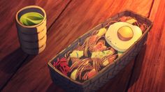 Shiroe and Minori have dinner, Log Horizon, Episode 25.