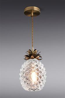 Buy pineapple pendant light from the Next UK online shop Pineapple Room Decor, Pineapple Kitchen, Pineapple Lights, Pineapple Chandelier, Gold Pineapple, Beach House Decor, Home Decor, My New Room, Decoration