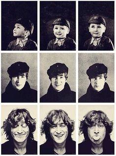 History In Pictures John Lennon, and 1974 Ringo Starr, George Harrison, Paul Mccartney, Les Beatles, John Lennon Beatles, Jhon Lennon, Beatles Art, Beatles Photos, John Lennon Quotes