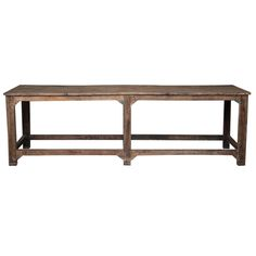 Jordyn Buffet at Found Vintage Rentals. This incredibly large table is wonderful as a buffet table or bar.