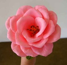 Crepe paper roses tutorial                                                                                                                                                                                 More