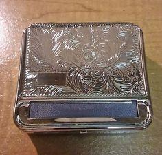 Kingstar Silver Floral Metal Engravable King Size Cigarette Roller Machine