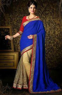 Stylish Crepe Lehenga Silk Sarees To Keep You Fashionable http://www.fashioncluba.com/2017/03/crepe-lehenga-silk-sarees-to-keep-you-fashionable.html