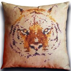 Polygonal Jungle Pillows