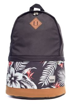 Mochila escolar Cavalier preta com estampa surf - Enluaze Loja Virtual | Bolsas, mochilas e pastas