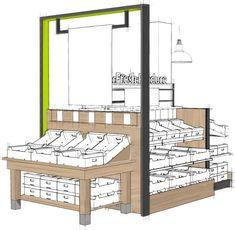 Supermarket Shelf Supermarket Shelves, Supermarket Design, Retail Store Design, Retail Shelving, Pharmacy Design, Store Layout, Shop Front Design, Modern Shop, Shelf Design