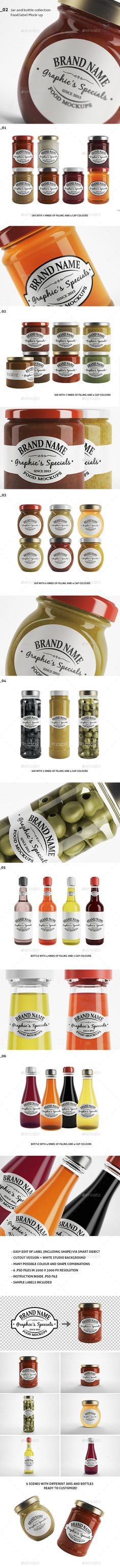 Jar & Bottle Label Logo Mockup #design Download: http://graphicriver.net/item/jar-bottle-label-logo-mockup/12899615?ref=ksioks