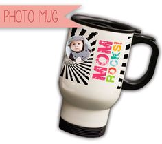 Disney Baby's Mothers Day Gift Ideas for the New Mom: Personalized Photo Mug with Babys Photo
