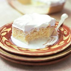 Pastel de Tres Leches (Sponge Cake with Three Milks) Recipe - Saveur.com - ok, i don't like tres leches but everyone at home does and my mom seems to have an awesome recipe so i'll have to compare and see which one is better.