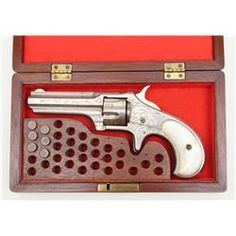 "Engraved Remington-Smoot New Model No. 1 revolver, .30RF cal., 2-13/16"" octagon barrel, nickel fin"