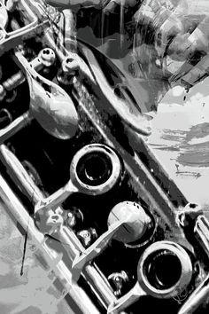 Clarinet Photograph - Clarinet Keys B/w by Pamela Williams