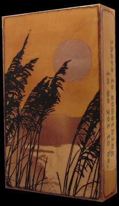 """066 """"Scenic Outlook"""" Spiritile by Houston Llew. """"Dry seeds scatter, as if to say there is something in me yet to be."""" -Jeanne Emrich. A reflective water and nature scene enliven this Spiritile. Read the quote to encourage growth and hope. $115"""