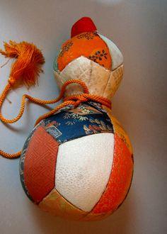 "apanese Gourd ""hyoutan"" made of kimono fabric ""Kyoto nisijin obi"" Handmade"