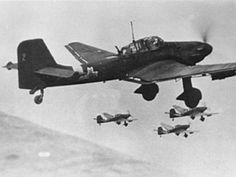 Romanian Ju 87Ds from 3rd dive bomber group over Soviet Union. 1943.  Centre For Aviation