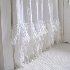 White Ruffle Shower