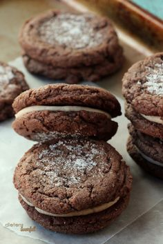 Homemade Oreos that are soft and chewy and full of real chocolate flavor. from #dietersdownfall.com