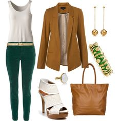 Casual Work Outfit, created by aracely26 on Polyvore