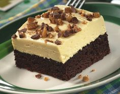 Irish Cream-Topped Brownie Dessert ~ or Bailey's, or Kahlua, or Grand Marnier, or...