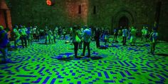 Awesome interactive exhibit paints digital art inside a 13th-century castle