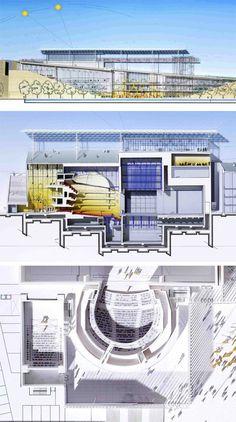 Centro Cultural da Fundação Stavros Niarchos, Atenas, Grécia, Arq. Renzo Piano (2008-2016).