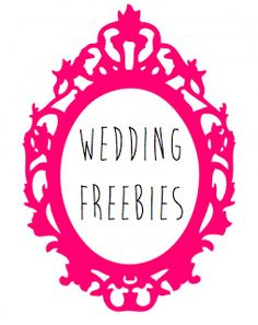 Wedding Freebies. Great for brides on a budget!  Perfect for future reference.