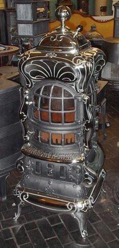 American Heating stove circa 1900. by eliza