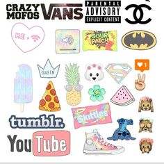 tumblr stickers - Google Search