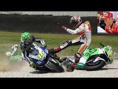 Marc Márquez & Valentino Rossi TOP 10 Crash MotoGP - YouTube