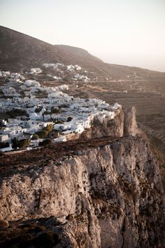 Folegandros, Greece / photographed by Erin D. Places Around The World, The Places Youll Go, Places To See, Around The Worlds, Beautiful World, Beautiful Places, Desert Places, Greece Travel, Greek Islands