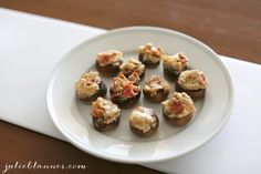 Bacon & Cream Cheese Stuffed Mushrooms - Coordinately Yours by Julie Blanner entertaining & design that celebrates life