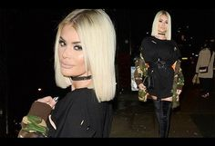 TOWIE's Chloe Sims nails military chic in thigh-high boots