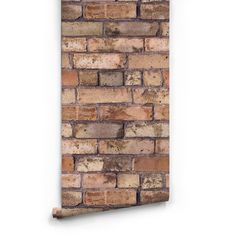 Sample Old Brown Bricks Boutique Faux Wallpaper design by Milton &... ($10) ❤ liked on Polyvore featuring home, home decor, wallpaper, backgrounds, walls, brick, wallpaper samples, brown home decor, faux wallpaper and brown wallpaper