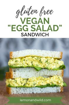 There's so much to LOVE about this plant-based sandwich! It delivers all the texture and flavor you want—without the eggs! It's quick, satisfying, tasty and super nutritious...the perfect sandwich to pack for work, school or a picnic!