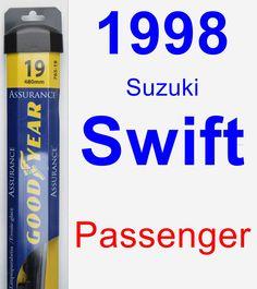 Passenger Wiper Blade for 1998 Suzuki Swift - Assurance
