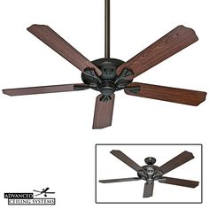 Best ceiling fans for high ceilings - Traditional home decor upgrade for living rooms and grand rooms. Quiet Ceiling Fans, Ceiling Fans Without Lights, Living Room Ceiling Fan, Best Ceiling Fans, Diy Living Room Decor, Living Rooms, Decorative Ceiling Fans, Large Ceiling Fans, Outdoor Ceiling Fans