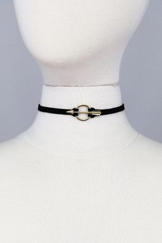 Arrow Ring Black Choker Necklace
