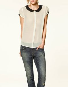 like this blouse, but hate sheer tops that you have to wear a cami with