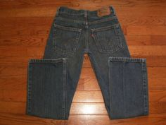 BOYS 10 regular LEVI'S 527 25x25 BLUE DENIM JEANS pants BOOT CUT #Levis #BootCut #Everyday