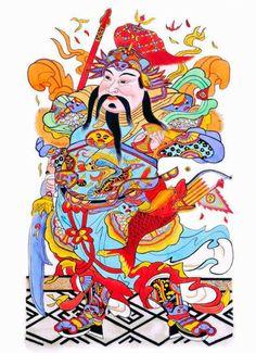 Chinese Traditional Door Gods @CultureInCart    Read More: http://www.cultureincart.com/symbol/s-door-god