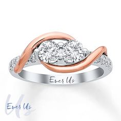 Ever Us Two-Stone Ring 1 ct tw Diamonds 14K Two-Tone Gold