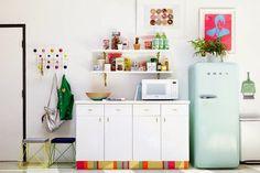 Kleiner Runder Kühlschrank : Faszinierende bilder auf u eretro kühlschranku c kitchen dining