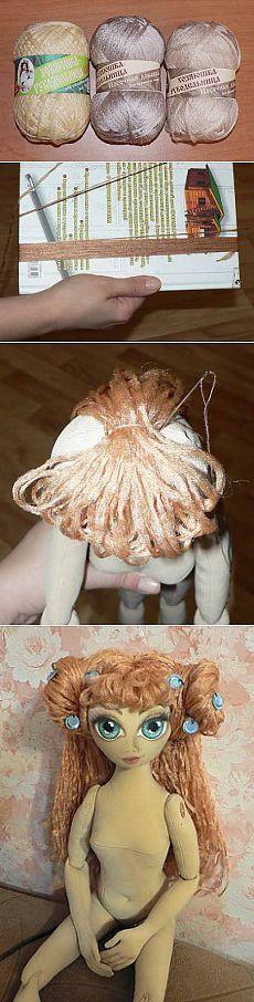 Делаем волосы кукле Стрекоза