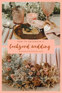Planning a small wedding? Host your wedding ceremony and wedding reception in your backyard on a budget. Discover how to transform your backyard into an elegant wedding venue with my selection of rustic and bohemian backyard wedding ideas. Click the link to discover how you can decorate your backyard wedding on a budget. #weddingonabudget #backyardweddingideas #outdoorwedding #summerwedding #rusticwedding #bohowedding Elegant Backyard Wedding, Rustic Bohemian Wedding, Sweet Table Wedding, Budget Wedding, Elegant Wedding, Wedding Ideas, Diy Wedding, Wedding Decor, Wedding Inspiration