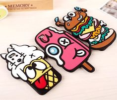 """Fashion cute cartoon 3D lovely spoof fine food Soft style Silicone Cover Back Rubber Case For iPhone 5 5s 6 4.7"""" free shipping -in Phone Bags & Cases from Electronics on Aliexpress.com   Alibaba Group"""