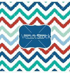 Colorful ikat chevron frame seamless pattern vector by Oksancia  on VectorStock®