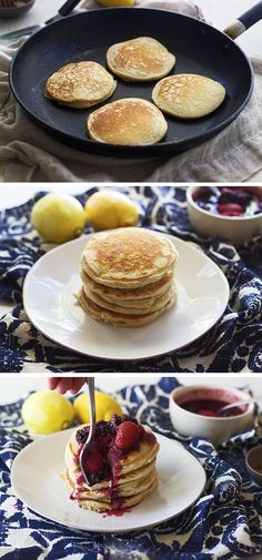 Pancake lovers, rejoice! Inspired Gathering has the key to a delicious and healthy breakfast, without throwing away the old favorite. These Lemon Protein Pancakes drizzled with Raspberry Compote are perfectly healthy and perfectly simple.