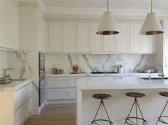 Image result for shaker kitchens and calcutta marble